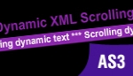 AS3 Dynamic XML Scrolling Text