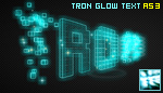 TRON Glow Text - AS3