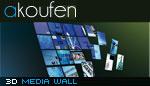 3D wall media gallery