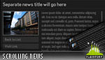 Scrolling News Reader Widget