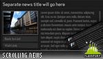 Scrolling News Reader Widget