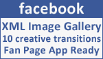 Facebook Fanpage Creative Image Transitions Gallery