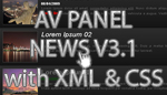 AV Panel News 3.1 with XML and CSS