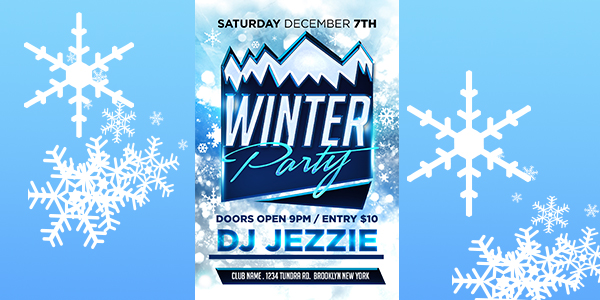 Winter Party Flyer Template - click for preview