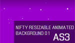Nifty Resizable animated background 01 AS3