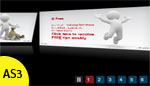 XML based 3D carousel Banner Auto and Manual rotator