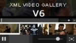 advance xml video gallery flash flv player v6