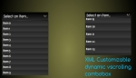 Dynamic XML yScrolling ComboBox