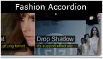 Fashion Accordion with Drop Shadow