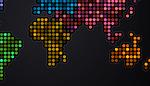 Flickering world map