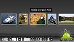 Advanced Glow Scrolling Menu Horizontal