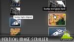Advanced Glow Scrolling Menu Vertical