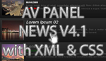 AV Panel News 4.1 with XML and CSS