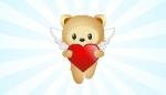 Flying Bear Holding Heart