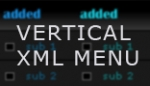 Vertical XML Menu